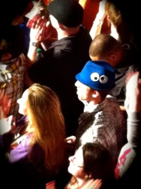 Cookie Monster in a Crowd